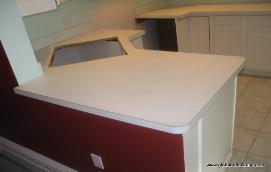Counter Top Resurfacing in Fort Lauderdale with round up edges
